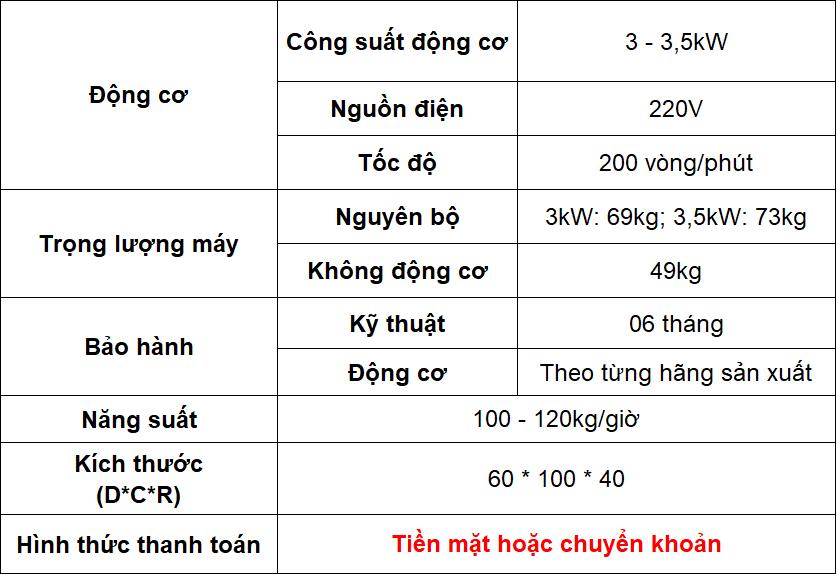 Thông số kỹ thuật